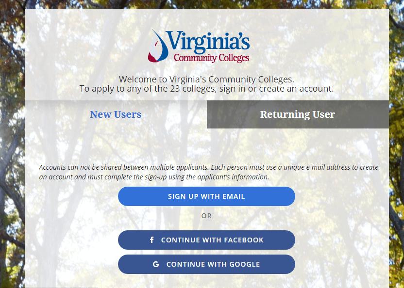 cara buat email edu virginia community college